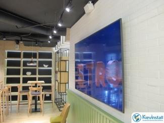 Установка телевизоров в офисах, кафе и ресторанах