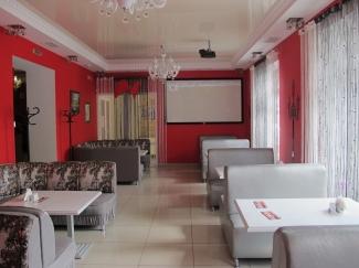 Проектор и экран в кафе, баре, ресторане