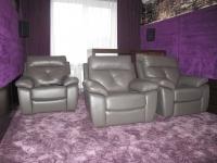Домашний кинотеатр в отдельном помещении