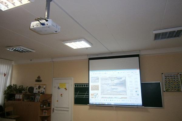 Проектор, экран, крепление, кабель, установка