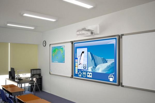 Короткофокусный проектор, интерактивная доска, крепление, кабель, установка