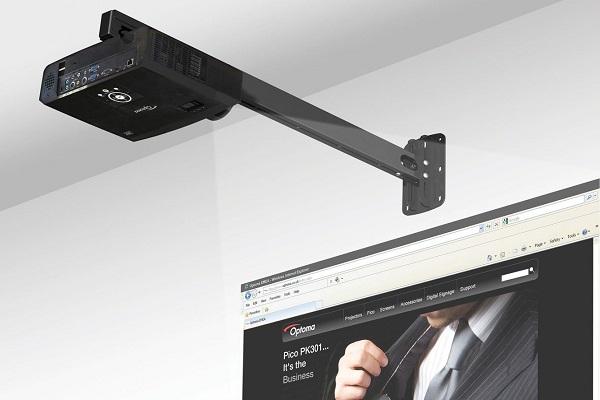 Короткофокусный проектор, экран, крепление, кабель, установка