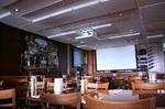 Установка проектора и экрана в ресторане, кафе, баре