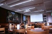 Установка проектора и экрана в в ресторане, кафе, баре